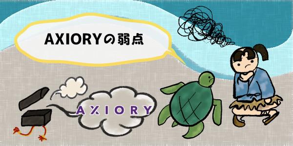 AXIORYの弱点のセクション画像